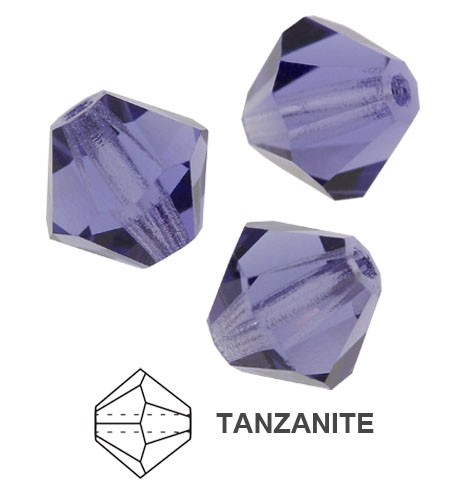 10 TUPIS CRISTAL TIPO AUSTRIACO COLOR TANZANITE 8MM