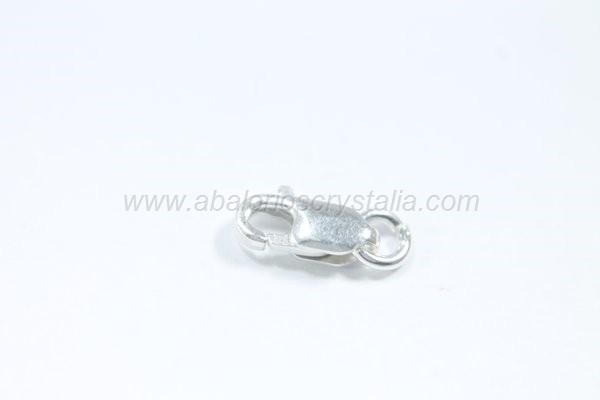 Mosquetón alargado 7mm +anilla plata 925