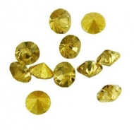 150 CHATONES DE CRISTAL COLOR AMARILLO (2 mm)