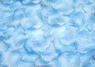 100 PÉTALOS DE ROSA DE TELA 5x5cm (Azul claro)