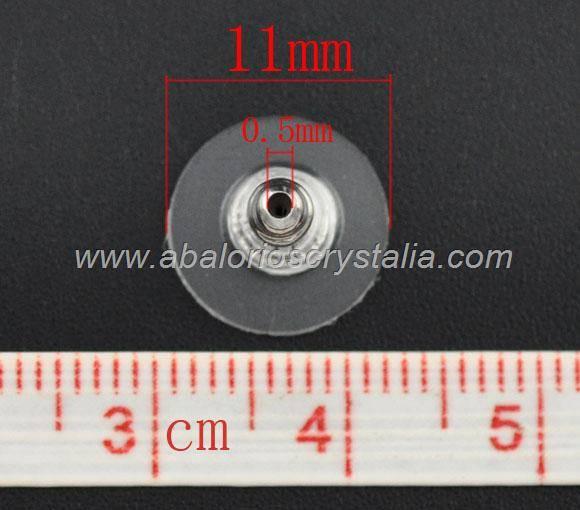 10 TRASERAS / TUERCAS CON PLÁSTICO PROTECTOR 11x6mm