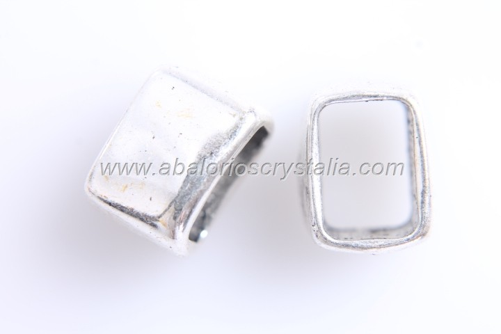 5 ENTREPIEZAS PASO REGALIZ PLATA ANTIGUA 14x9mm