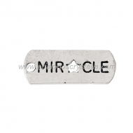 5 COLGANTES CHAPITA Miracle PLATA ANTIGUA 21mm x 8mm