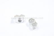 2 Tuercas/presión 7 mm plata 925