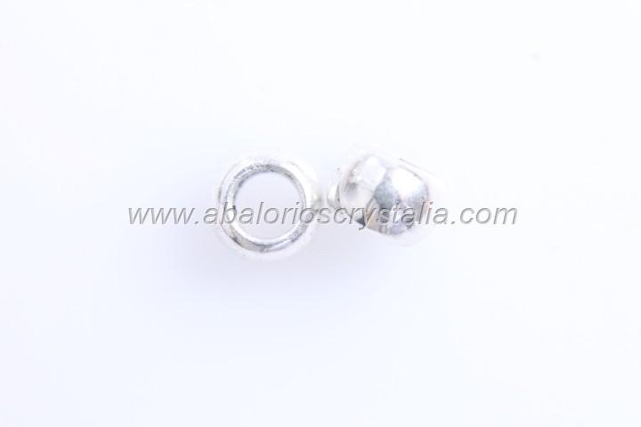 10 ABALORIOS ARANDELA PLATA ANTIGUA 6.5x6.5mm