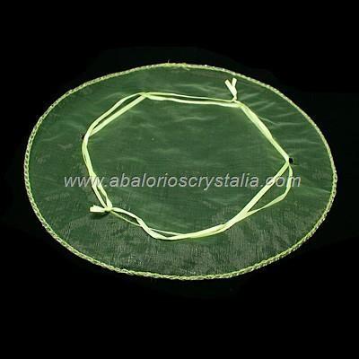 10 SAQUITOS DE ORGANZA MIX DE COLORES 26 cm de diámetro