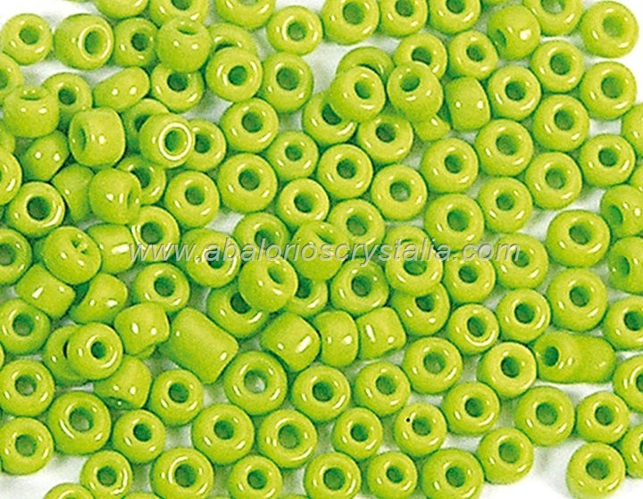 20 GR ROCALLA 6/0 (3.6 - 4mm) VERDE OPACO