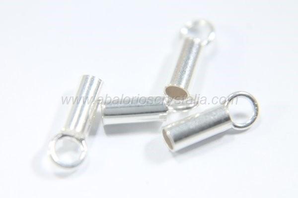 Terminal tubo con anilla 2.1 (Ø) x 6 mm plata 925