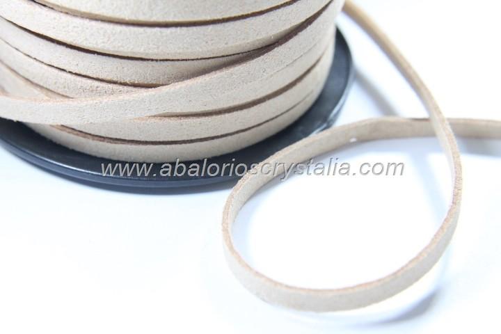1 METRO DE ANTELINA ANCHA 5mm. BEIGE