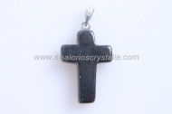 1 COLGANTE CRUZ OBSIDIANA 25x13mm
