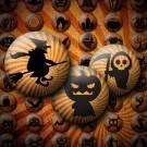 LÁMINA CON 63 IMÁGENES 18x18mm Halloween