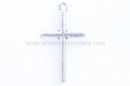 10 CRUCES PLATA ANTIGUA 23x13mm