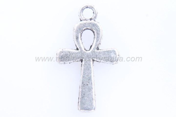 10 CRUCES PLATA ANTIGUA 22x13mm