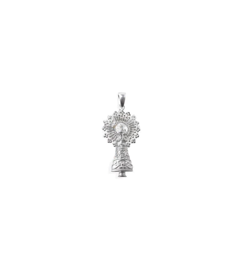 Colgante Virgen del Pilar 18x9mm + anilla plata 925