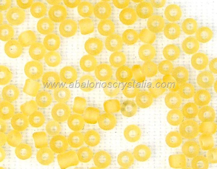 20 GR ROCALLA 6/0 (3.6 - 4mm) NARANJA CLARO EFECTO HIELO