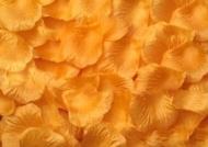 100 PÉTALOS DE ROSA DE TELA 5x5cm (Naranja)