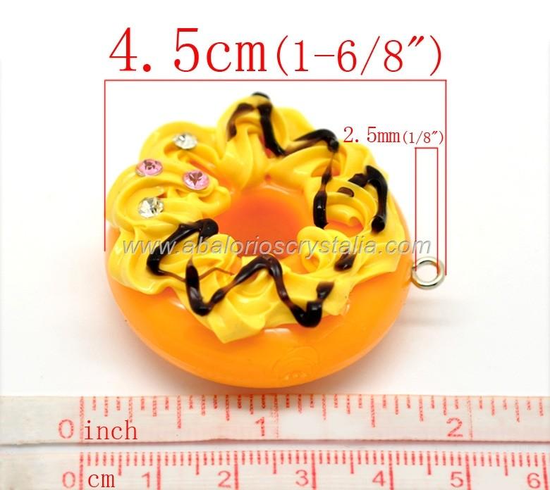 COLGANTE FORMA DONUTS CON STRASS 4.5x4.1cm