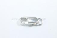 Mosquetón alargado con anilla 10x4 mm plata 925
