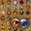 LÁMINA CON 60 IMÁGENES 19.5x19.5mm Halloween
