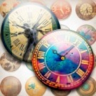 LÁMINA CON 20 IMÁGENES 40x40mm Relojes