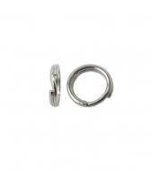 Anilla doble llaverito abierta 6 mm plata 925