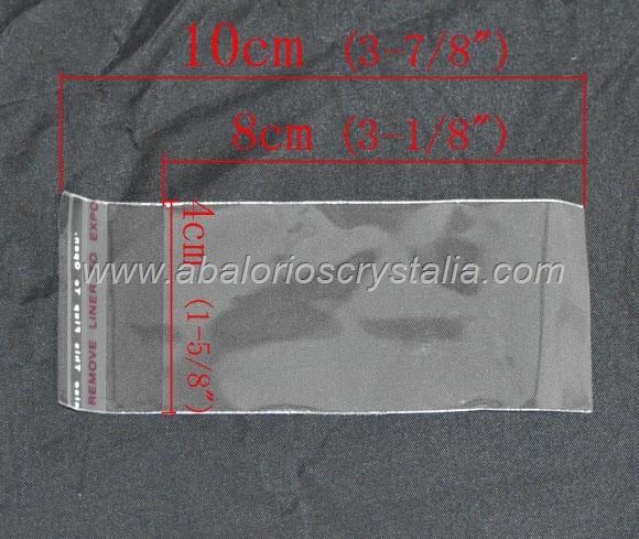 50 BOLSAS DE PLASTICO CON CIERRE AUTO ADHESIVO 10x4cm