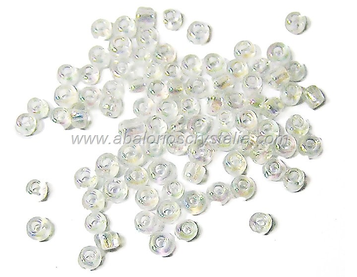 20 GR ROCALLA 6/0 (3.6 - 4mm) TRANSPARENTE AB