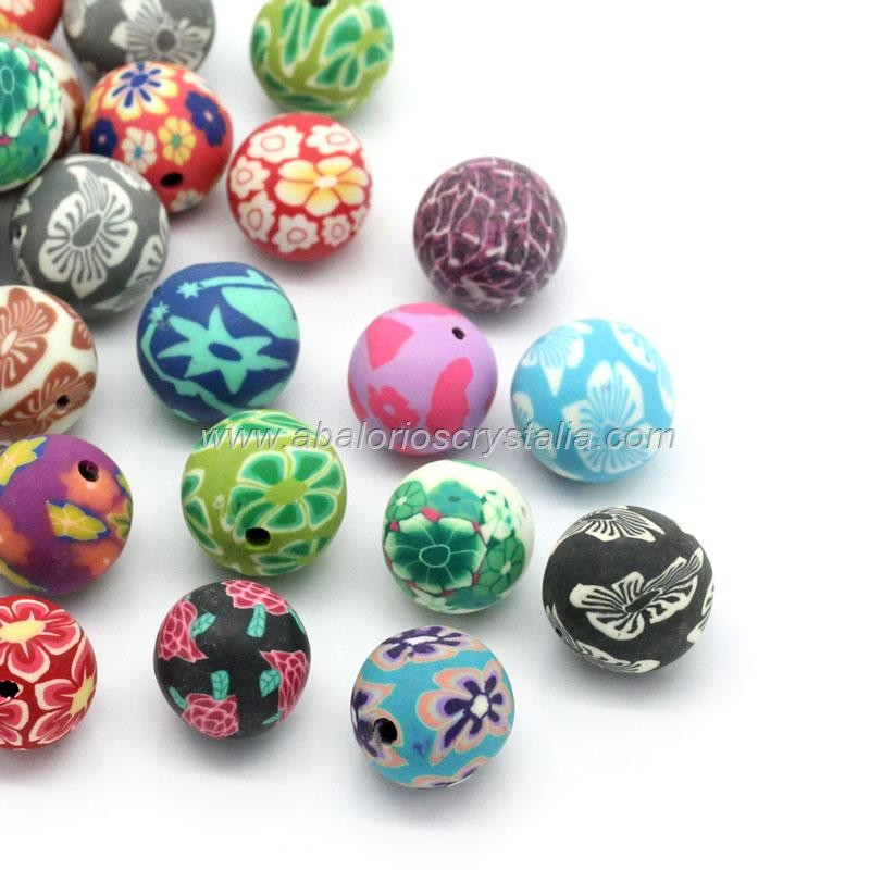 MIX DE 10 BOLAS DE FIMO 8mm