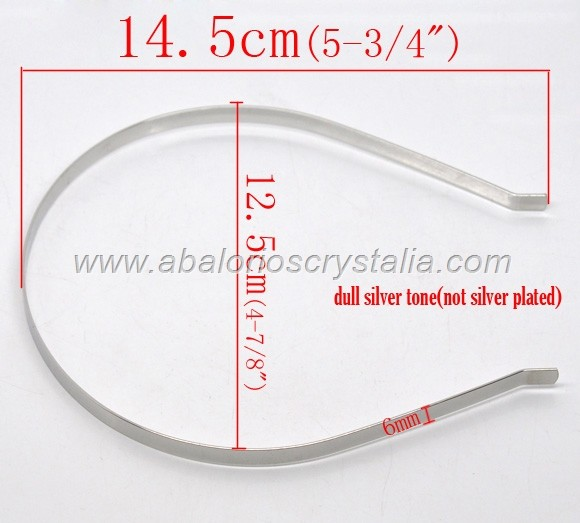 DIADEMA METÁLICA PLATA ANTIGUA 14.5x12.5cm