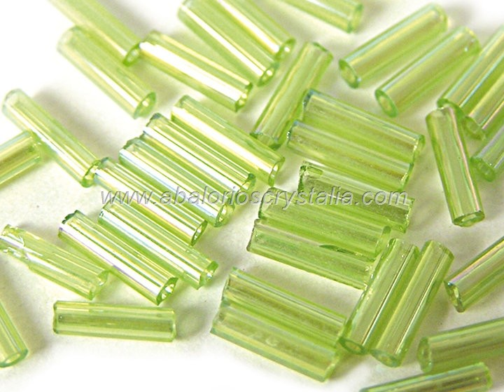20 GR ROCALLA CANUTILLO 7x2mm VERDE AB