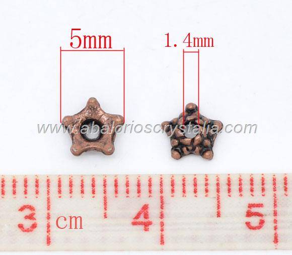50 CASQUILLAS COBRE SEPARADORES ESTRELLA 5mm
