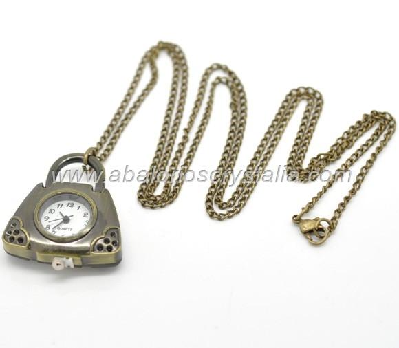 Reloj de bolsillo cadena bronce vintage mod 9 - Reloj de cadena ...