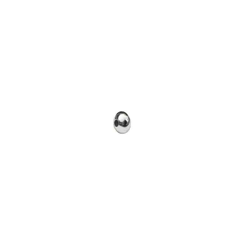 Rondel Disco 4mm (1.2 mm) plata 925
