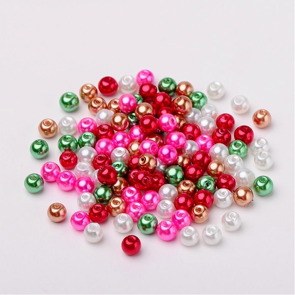 50 PERLAS DE CRISTAL 6mm MIX 5
