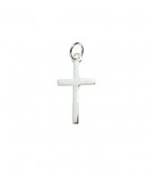 Colgante cruz 23x12mm + anilla plata 925