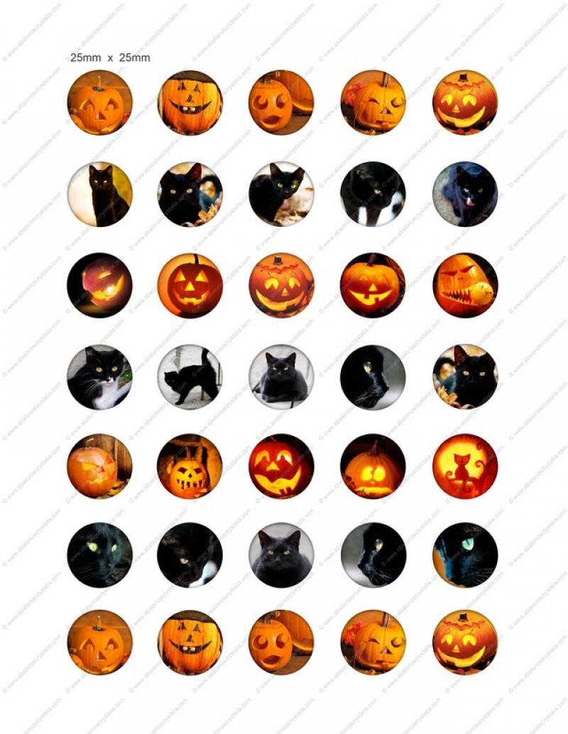 LÁMINA CON 30 IMÁGENES 25x25mm Halloween 3