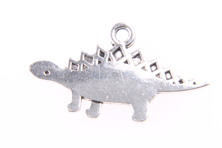 5 DINOSAURIOS PLATA ANTIGUA 27.5x15mm