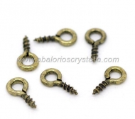 20 MINI ALCAYATAS O CANCAMOS BRONCE 11x4mm