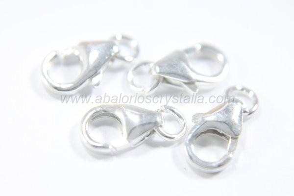Mosquetón clásico 5x8 mm + anilla plata 925
