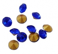150 CHATONES DE CRISTAL COLOR AZUL OSCURO (2 mm)
