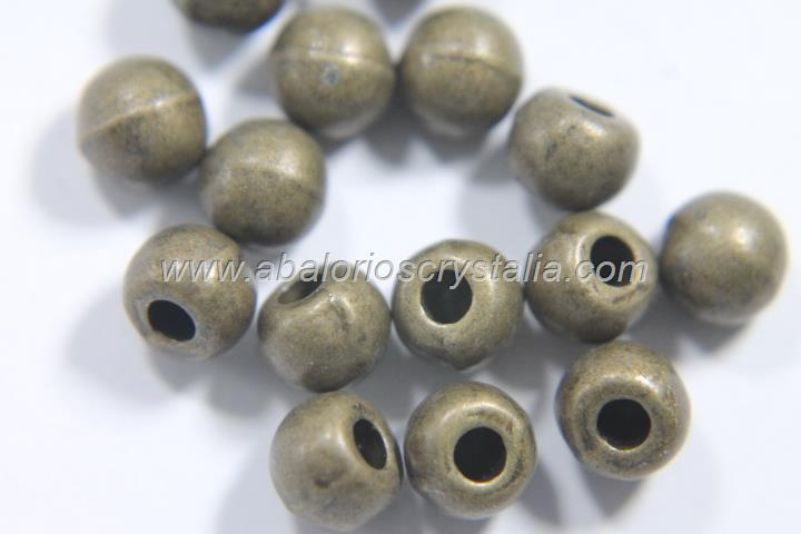 20 TERMINALES BOLA MEDIO TALADRO BRONCE (INT:1.5mm)