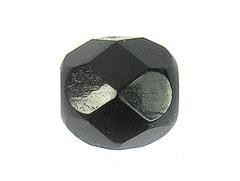 BOLA FACETADA CHECA NEGRO JET 8mm (15 uds.)