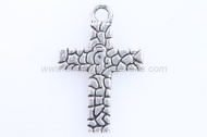 10 CRUCES PLATA ANTIGUA 22x14mm