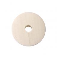 5 DONUTS DE MADERA  20 mm NATURAL
