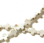 10 MINI CRUCES HOWLITA BLANCA 10x8x3mm