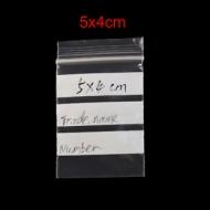20 BOLSAS DE PLASTICO ESCRITURA CIERRE ZIP 5x4cm