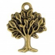 COLGANTE ÁRBOL 2 COLOR BRONCE 22x17x2mm