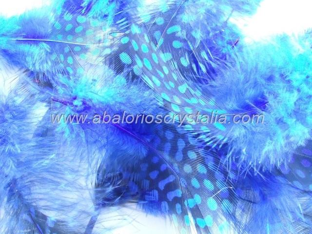 MIX DE PLUMAS AZUL MARINO 1.8 gr. (Aprox.15 uds)