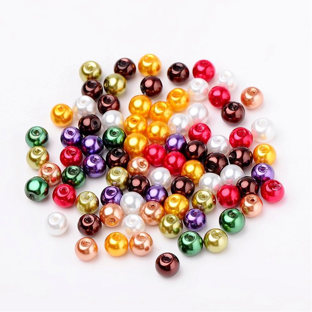 50 PERLAS DE CRISTAL 6mm MIX 9