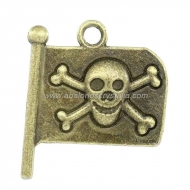 5 BANDERAS PIRATA BRONCE 21x19mm